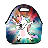 Neoprene Lunch Bag - Unicorn Cute Dabbing Dab Dance Lunch Tote Bags for Women & Girls - Lunch Boxes for Kids & Adult Lunch Box