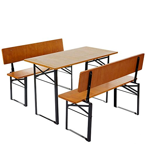 Bierzeltgarnitur-mit-Tisch-und-2-Bnke-mit-Rckenlehne