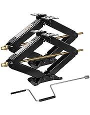 "WEIZE Camper RV Trailer Stabilizer Leveling Scissor Jacks with Handle -24""- 7500lbs - Set of 2"