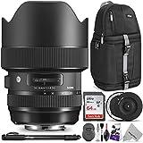 Sigma 14-24mm f/2.8 DG HSM Art Lens for Nikon F w/Sigma USB Dock & Advanced Photo and Travel Bundle