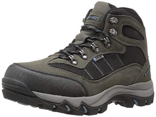 Hi-Tec Men's Skamania Mid Waterproof Hiking Boot, Gull Grey/Black/Goblin Blue, 9 D US