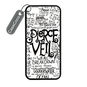CASECOCO(TM) iPhone 5 5s Case, Pierce The Veil Case for iPhone 5&5s - Protective Hard Back / Black Rubber Sides