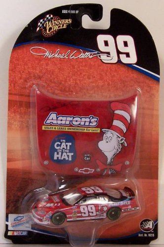 Michael Waltrip Hat - Nascar Winners Circle 1:64: Aaron's, The Cat in the Hat, Michael Waltrip #99
