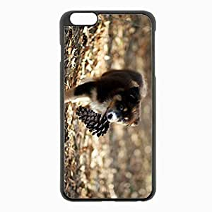 iPhone 6 Plus Black Hardshell Case 5.5inch - dog puppy bump playful Desin Images Protector Back Cover