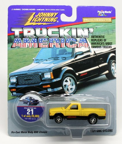 1991 GMC SYCLONE * COLLECTOR NO. 21 * Johnny Lightning 1997 TRUCKIN' AMERICA COLLECTION 1:64 Scale Die Cast Vehicle * Limited Edition: 1 of only 20,000 (Gmc Pickup Truck Hot Rod)