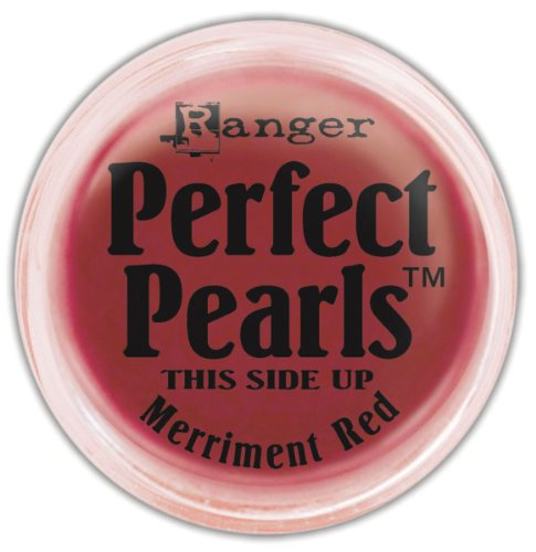 (Ranger Perfect Pearls Pigment Powder, 1-Ounce, Merriment Red)