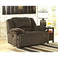 Toletta 5670152 59 Zero Wall Wide Seat Recliner with Thick Bustle Back Design Pillow Padded Arms and in Metal Drop-In Unitized Seat Box in Chocolate