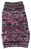 Pet Life Royal Bark' Heavy Cable Knitted Designer Fashion Pet Dog Sweater, Medium, Pink, Black and Grey