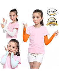 SHINYMOD UV Protection Cooling or Arm Warmer Sunblock Sleeves for Kids