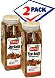Badia Star Anise. 7 oz . Large container. Pack of 2