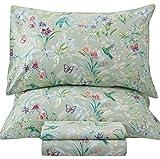 Queen's House Sheets Butterfly Bird Print Bed Sheet Collection Set-Queen,R