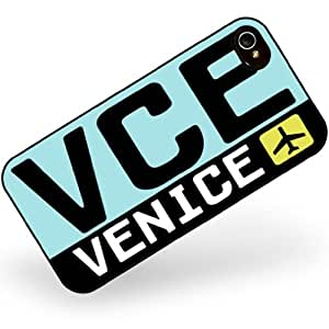Rubber Case for iphone 4 4s Airport code VCE / Venice country: Italy - Neonblond