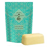 Caribbean Cacao Ultimate Cocoa Butter - Delightfully Rich Scent & Highest Quality, From our exclusive source in the Dominican Republic. 1 LB Body Butter Bar For Stretch Marks, Dry Skin, Acne etc