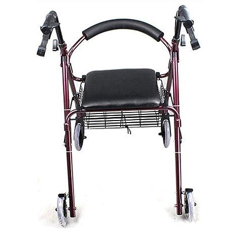 QINAIDI Andador con Ruedas Plegable de Movilidad de Aluminio ...