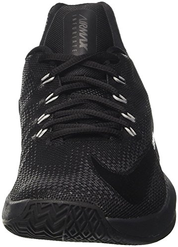 detailed look d6195 97e60 NIKE Herren Air Max Infuriate Low Basketballschuh Schwarz   Anthrazit    Dunkelgrau ...