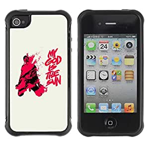 Planetar® ( My God Is the Sun ) Apple iPhone 4 / 4S Hybrid Heavy Duty Shockproof TPU Fundas Cover Cubre Case