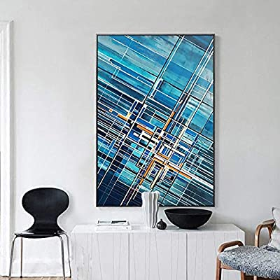 Chenteshangmao Blue Abstract Pattern Hanging Painting Nordic Modern Minimalist Style Interior Porch Wall Art Black Ps Picture Frame Not Easy To Deform Canvas Not Easy To Fade Background Wall Pai Buy Online