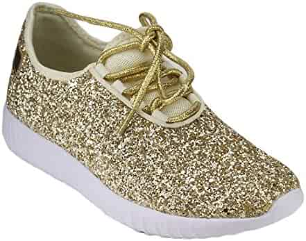 44dc6c32ae95 Forever Link Women's Remy-18 Glitter Sneakers | Fashion Sneakers | Sparkly  Shoes For Women