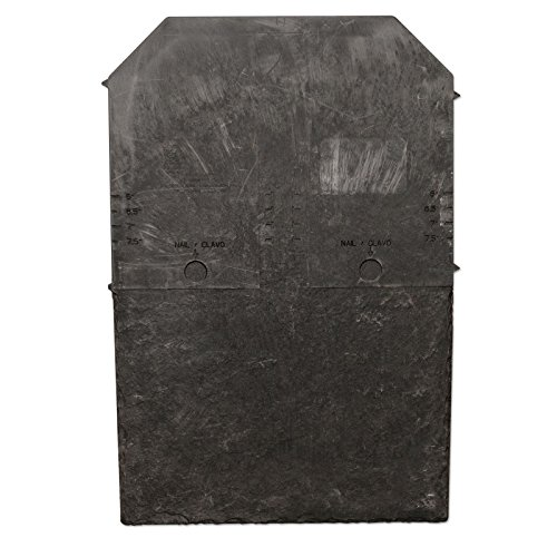 10 x Stone Black Tapco Roof Slate Tile - Lightweight Strong Synthetic Plastic Roofing Shingle by Tapco Slate (Roofing Tile Plastic)