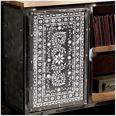 Jaipur Indien Incruster Pack Of 7 Meubles Mur Sol Pochoirs Pour Peinture Amazon Fr Bricolage