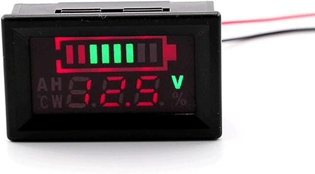12V Lead-Acid Battery Waterproof Status Capacity LED Display Indicator Voltmeter