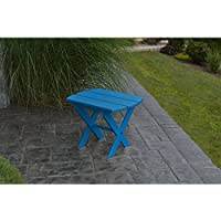 A&L Furniture Co. Recycled Plastic Folding Oval End Table