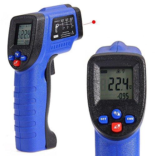 COLEMETER Infrarot Thermometer Laser Pyrometer berührungslose Infrarot-MessungTemperaturmesser Temperaturmessgerät Mit LCD Display Laserpointer - 50 bis + 550 °C