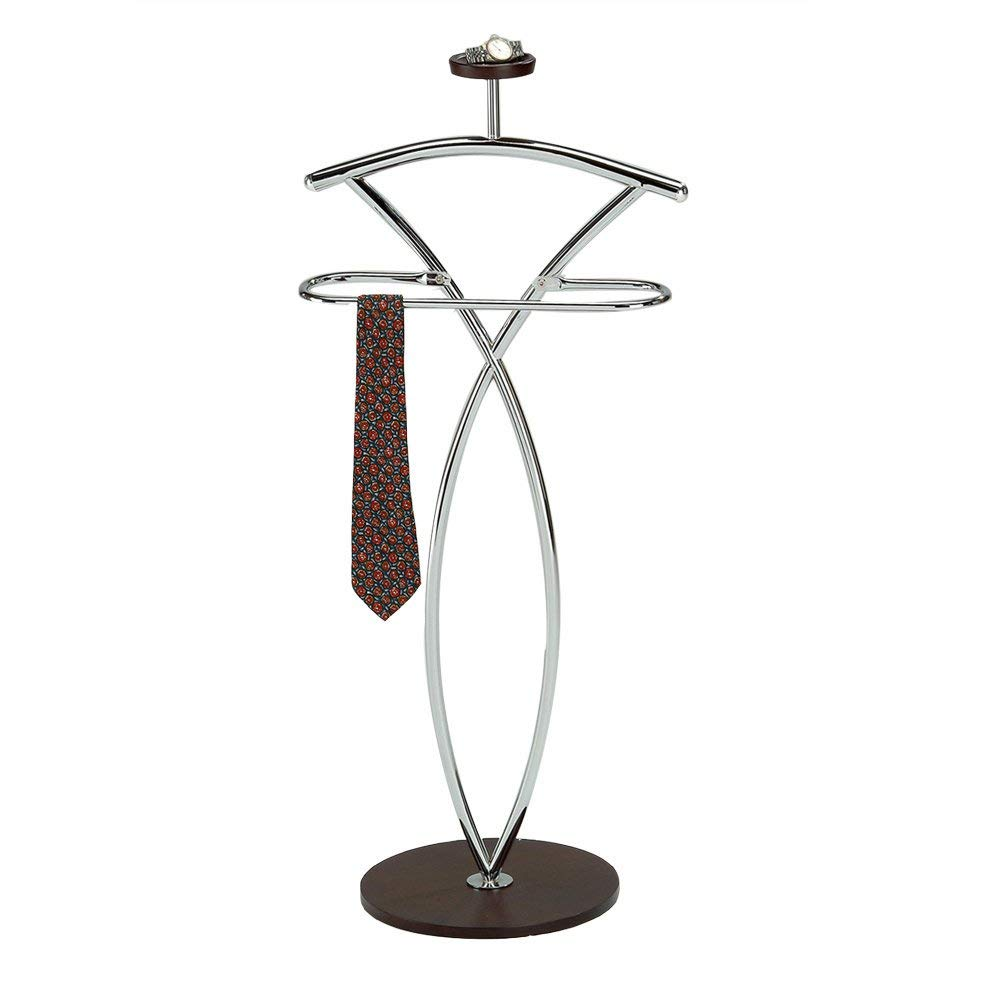 InRoom Designs Wood and Metal Suit Valet Stand