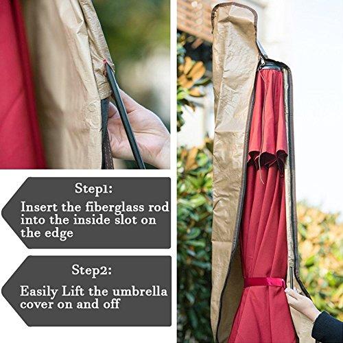 Abba Patio Outdoor Market Patio Umbrella Cover for 7-11 Ft Umbrella, Water Resistant, Beige by Abba Patio (Image #1)