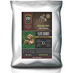 SportDogFood Elite Grain Free Active Dog & Puppy Beef Formula, 50 lb