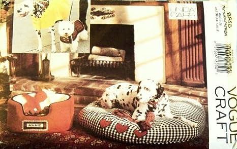 POO Vogue Craft patrón 8865. Perro camas W/Covers; Abrigos con & sin