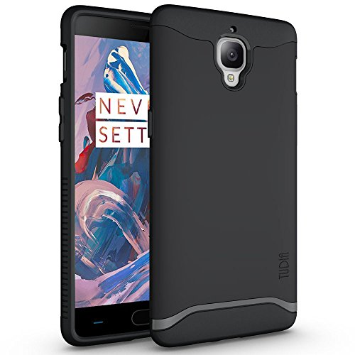 (OnePlus 3T / OnePlus 3 Case, TUDIA Slim-Fit Heavy Duty [Merge] Extreme Protection/Rugged but Slim Dual Layer Case for OnePlus 3T, OnePlus 3 (Matte Black))