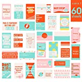 Motivational Quote Cards, Business Card Size, 60