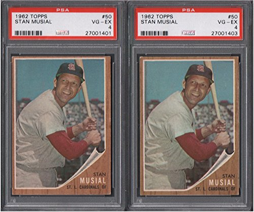 1962 Topps Regular (Baseball) Card# 50 Stan Musial (psa) of the St. Louis Cardinals VGX Condition ()