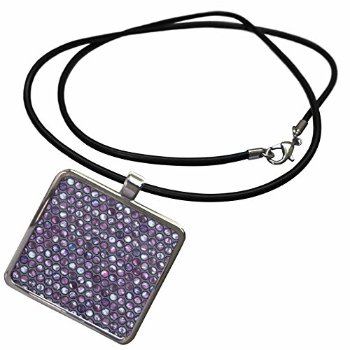Abstract Graphics - Image of Shiny Pearl Like Allover Pattern - Necklace With Rectangle Pendant (ncl_274692_1) (Graphic Image Jewelry)
