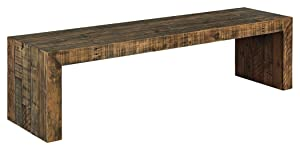 """Ashley Furniture Signature Design - Sommerford 65"""" Dining Room Bench - Rustic Style - Brown"""