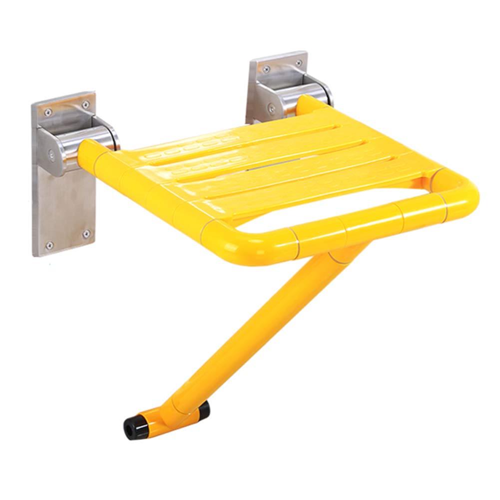ウォールチェア B07N89QP7Z - - バリアフリー安全折りたたみスツール高齢者の浴室のシャワーシャワーの靴の手すりの便座のスツールの座席 Yellow Yellow B07N89QP7Z, ウチタチョウ:dd50271e --- amlakbistoon.ir