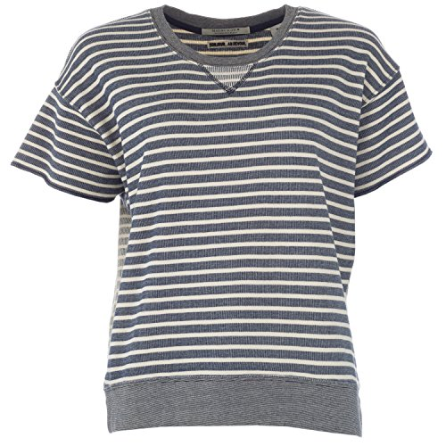Sweat Maison Scotch Boxy pour dame en bleu