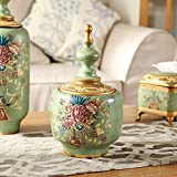 DIDIDD Decorations-American country piggy banks ornaments handainted rose garden home decor furnishings,A