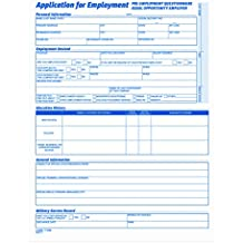 TOPS 3288 Comprehensive Employee Application Form, 8 1/2 x 11 (Pack of 25 Forms)