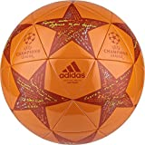 adidas Performance Champion's League Finale Capitano Soccer Ball, Unity Orange/Craft Chili Red/Shock Slime, Size 4