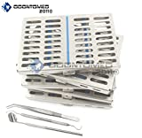 OdontoMed2011 GERMAN GRADE STEEL SET OF 5 DENTAL AUTOCLAVE STERILIZATION CASSETTE RACK BOX TRAY FOR 10 INSTRUMENT+ 5 DENTAL 3 PIECE SET ODM