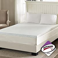 Sleep Philosophy Flexapedic Memory Foam Mattress Protector 3M Moisture Cooling Bed Cover Full White