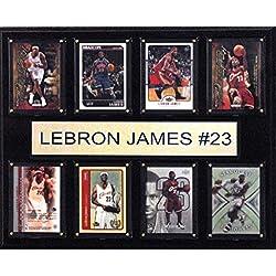 NBA Cleveland Cavaliers Lebron James 8-Card Plaque, 12 x 15-Inch