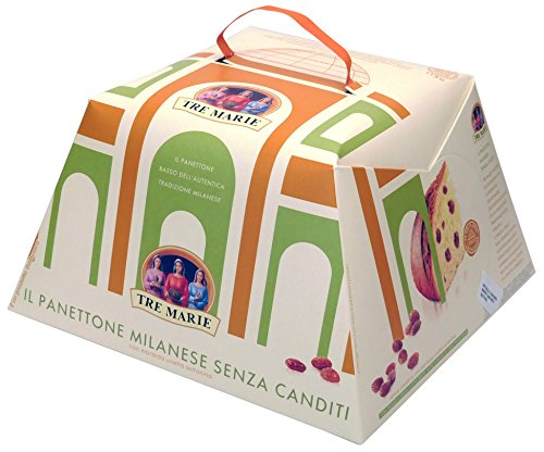 Tre Marie Panettone Milanese Senza Canditi (Without Candied Fruit) Holiday Cake, 35.27 Ounces (1000 grams)