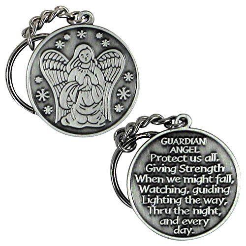 Guardian Angel Key Chain Protect Us All Keychain Key Holder