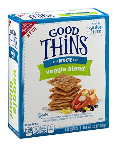 Nabisco, Good Thins, 3.75oz Box (Pack of 4) (The Rice One - Veggie Blend)