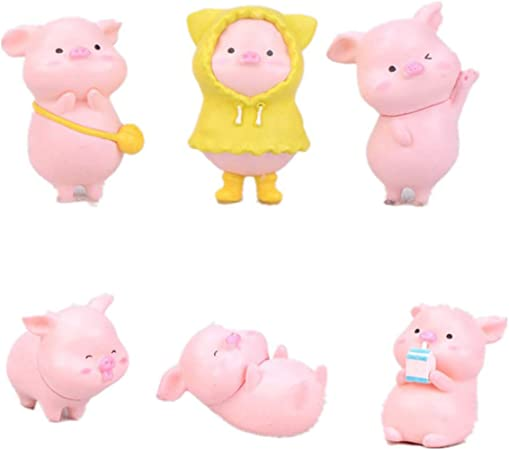 Xizai 8039 Pink Cute Pig Swine Animal Pet DIY Mini Building Blocks Toy 28cm tall