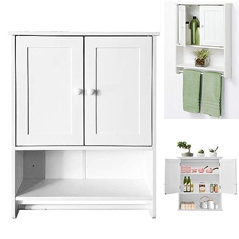 Amazon.com: Bathroom Wall Cabinet,Double Door Bathroom ...