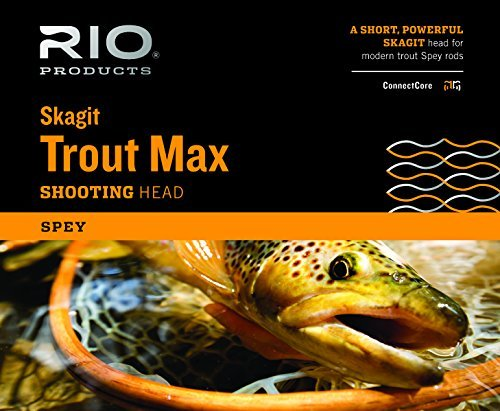 - Rio Fly Fishing Fly Line Skagit Trout 300gr Fishing Line, Teal/Orange